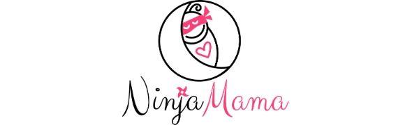 Ninja Mama baby in a ninja mask