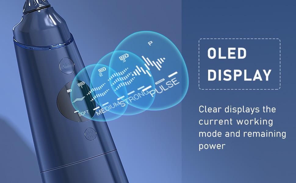 water flosser OLED display