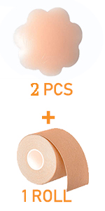 All Cups TOPCL Invisible Breast Lift Tape Roll Push-up Boob Shape Bra Nipple Cover Sticker DIY Breathable Breast Lift Tape for Breast