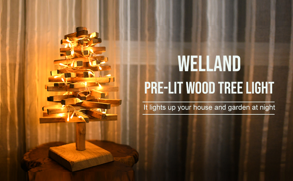 Wood tree light