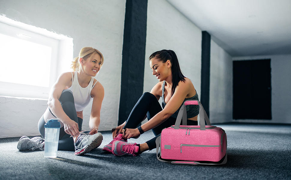 pink gym bag for women