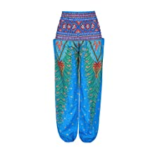 Blue Peacock Baggy Trousers for Women