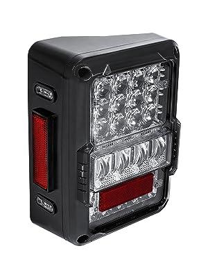 54 LEDs Clear Lens LED Tail Light Pair ONLINE LED STORE Matrix Design Plug n Play IP67 Waterproof Brake Lights for 2007-2018 Jeep Wrangler JK /& Unlimited