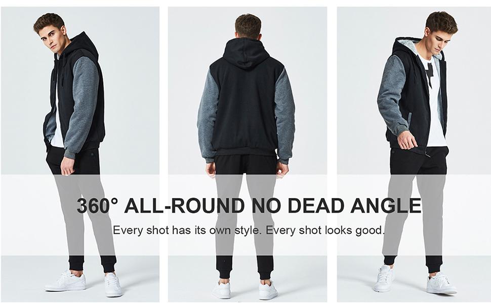 men fleece jackets hoodies
