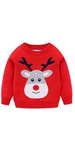 Cute Reindeer Sweater for Girls
