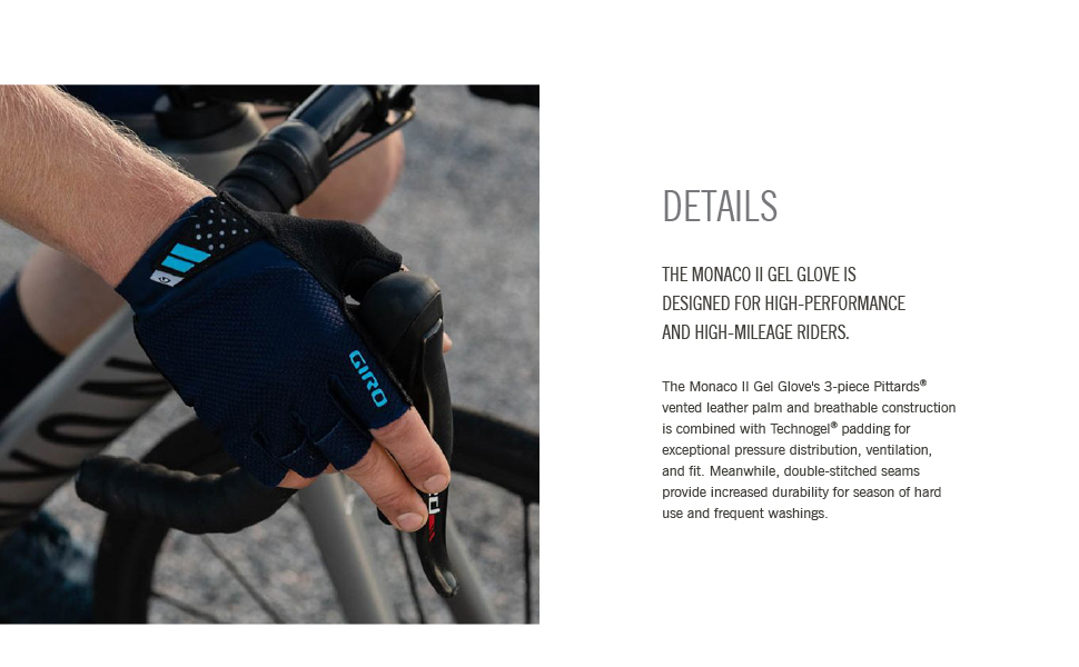 monaco II gel builder bike gloves
