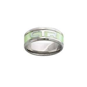 J199, Mormon, LDS Unisex, CTR Ring Stainless Steel, Illuminate, Size 8-12 One Moment In Time,