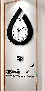 SHISEDECO Creative Mute Modern Pendulum Clock