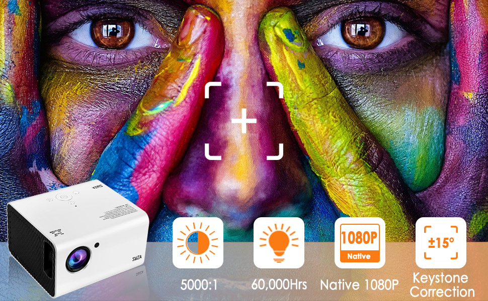 Native 1920 * 1080P Resolution projector