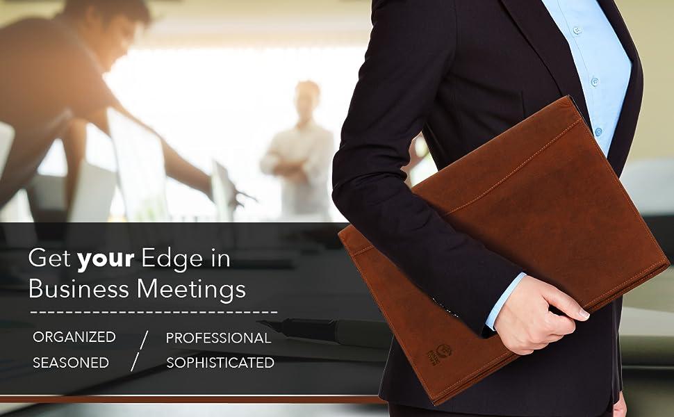 portfolios padfolio leather file folder interview document organizer men women resume holder