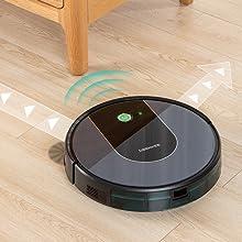 Polvere Controllo con App e Alexa Tappeti Robot Aspirapolvere Deenkee Peli di Animali Domestici Aspirapolvere Robot Adatto per Pavimenti 120 Minuti Standby Passa Il Panno E Lava Il Pavimento