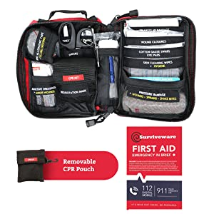 Surviveware Small First Aid Kit - What's inside the kit
