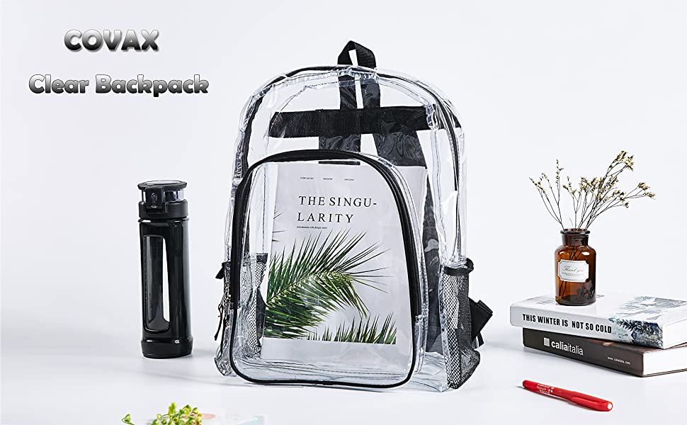 COVAX Clear Backpack for School