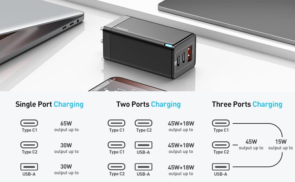 3 ports charging