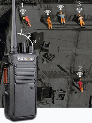 Retevis DMR radios 2 time slot Anti-fall  digital walkie talkies
