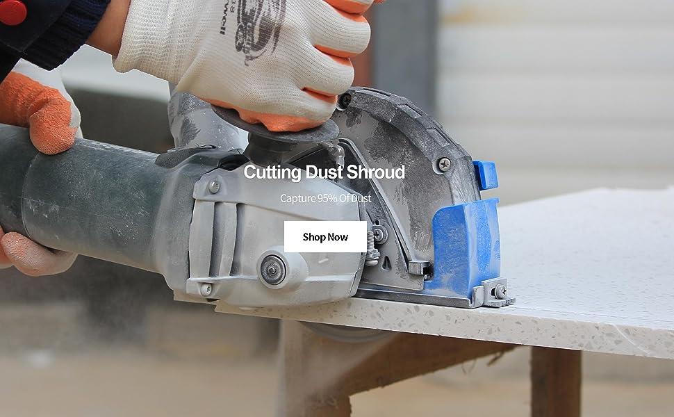 cutting dust shroud