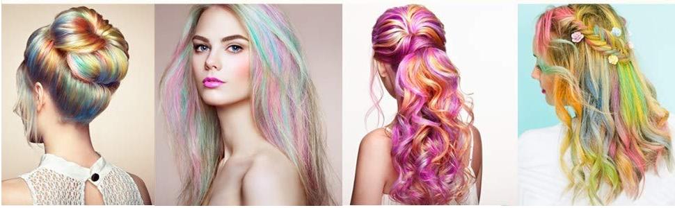 Tiza de Pelo, Cabello Tiza, Coloración temporal Cabello, Hair ...
