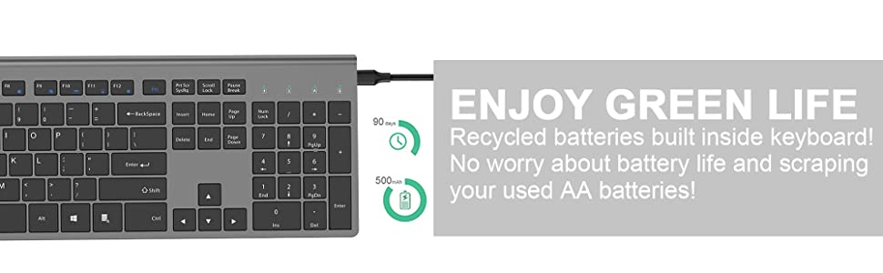 Rechargeable No need to change battery