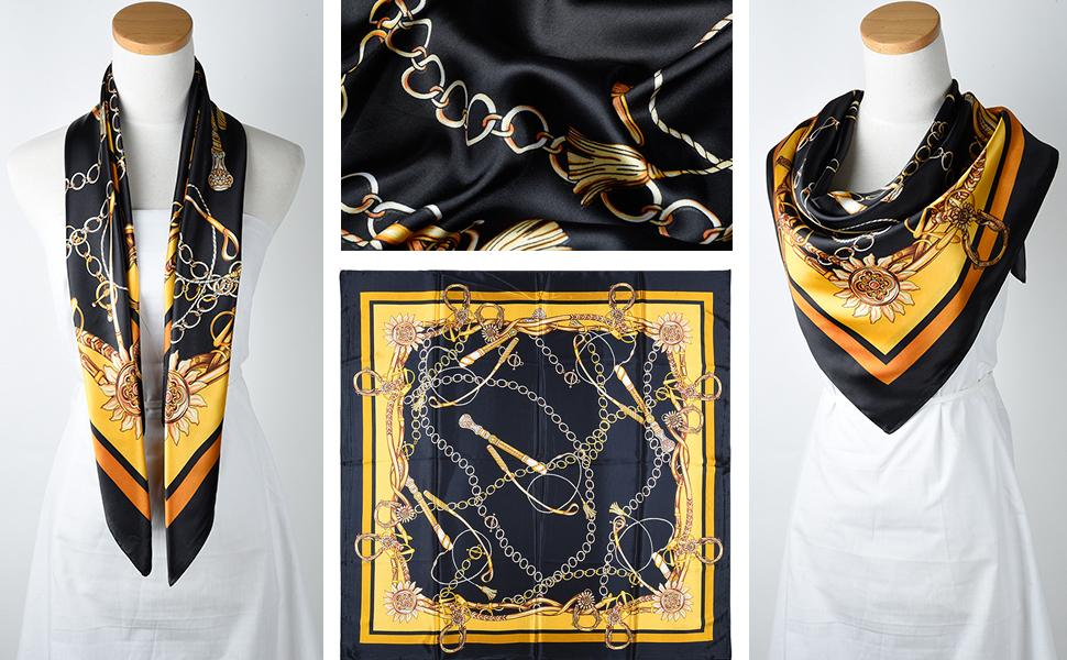 Corciova Chains Pattern  Silk Scarf