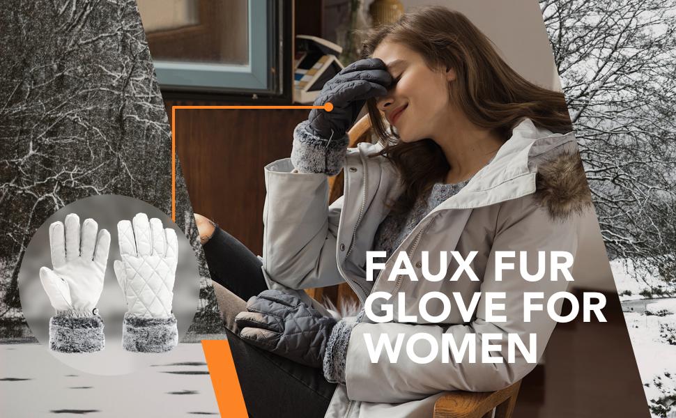 accsa Women Winter Ski Glove Waterproof 3M Thinsulate Warm Windproof