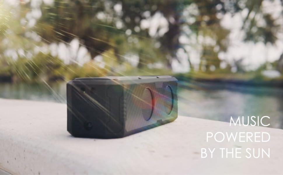 carbon fibber solar speaker