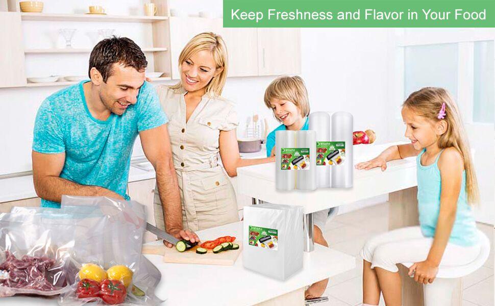 food saver vacuum sealer bags gallon pint quart size  for food saver