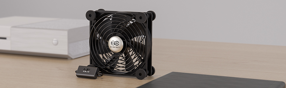 AC Infinity MULTIFAN Quiet USB Fan for Receiver DVR Playstation Xbox Computer Cabinet Cooling