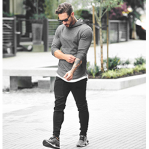 white gym hoodie for men