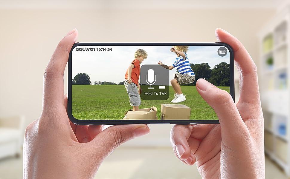 wifi cameras for home security camera outdoor 360° Pan Tilt Zoom Camera Battery Power Home Camera