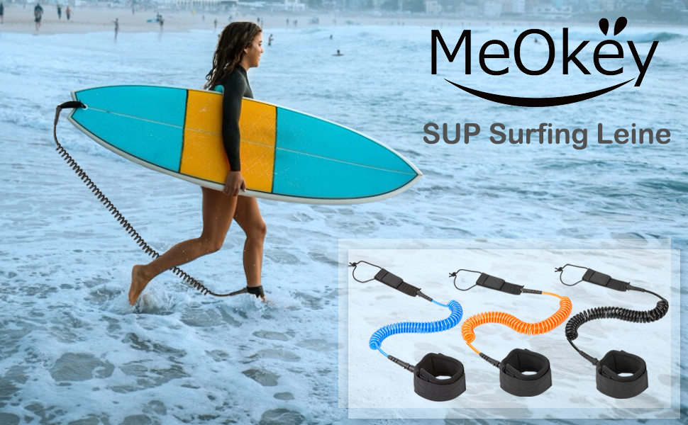 Surfboard Leash Paddel SUP Surfing Coiled Leine Sicherungsleine mit