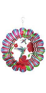 shiny 3D decorative rainbow dolphin wind spinner decor for patio party anniversary birthday