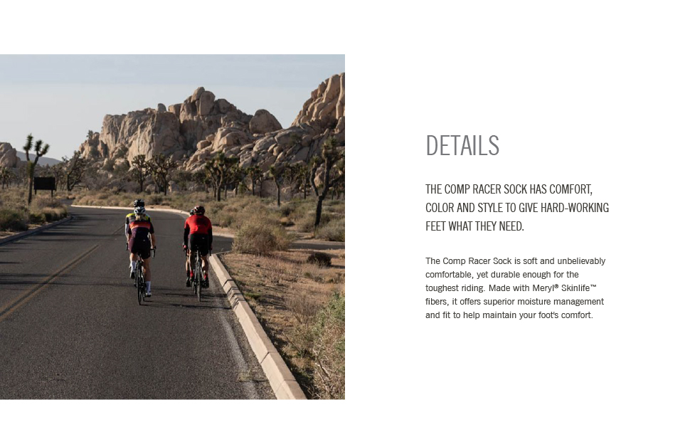 giro comp racer bike cycling socks details