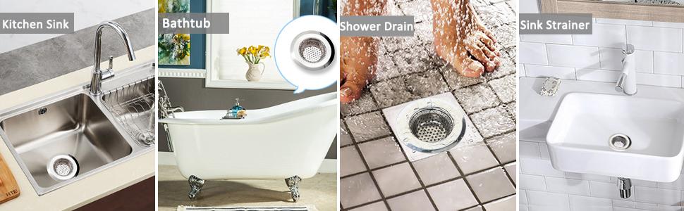 Hair Catcher Bath Drain Shower Tub Strainer Cover Sink Stopper JnHSc nshen