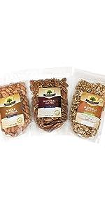 raw natural almonds walnuts pecans keto paleo protein mixed nut bundle