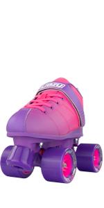 Crazy Skates rocket roller skate for women ladies girls teen purple pink derby rink speed ombre
