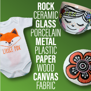 artistro paint pens for rock painting, fabric, wood, canvas