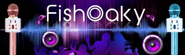 FISHOAKY  Karaoke Microphone Bluetooth