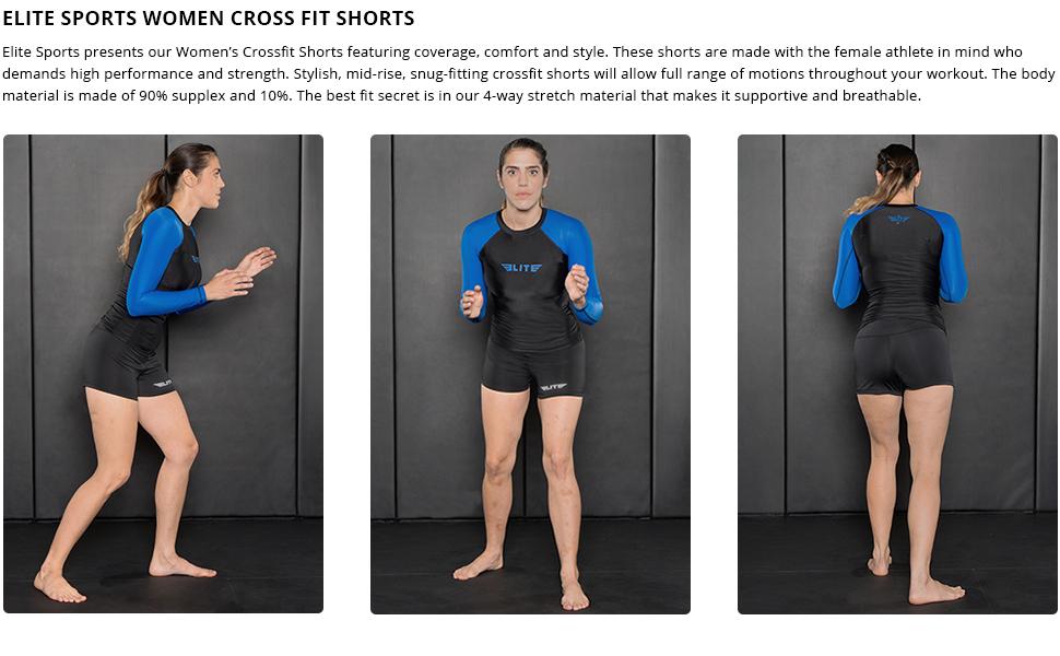 Amazon.com: Elite Sports Women's Training Compression Shorts, Workout  Running Exercise Yoga Shorts for Women: Clothing