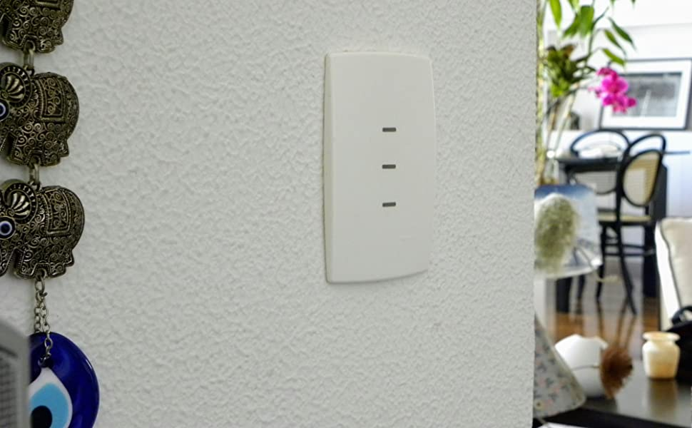 Interruptor inteligente com Wi-Fi TRR12 da Syspac Eletrônica