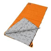 Orange Youth camp bag laying down