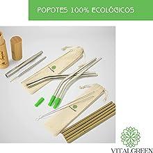 popotes ecológicos sustentables reutilizables lavables portátiles vitalgreen salud estilo de vida