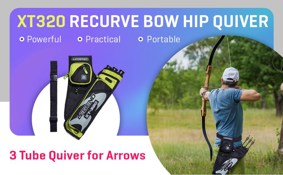 Legend XT320 Recurve Bow Hip Quiver
