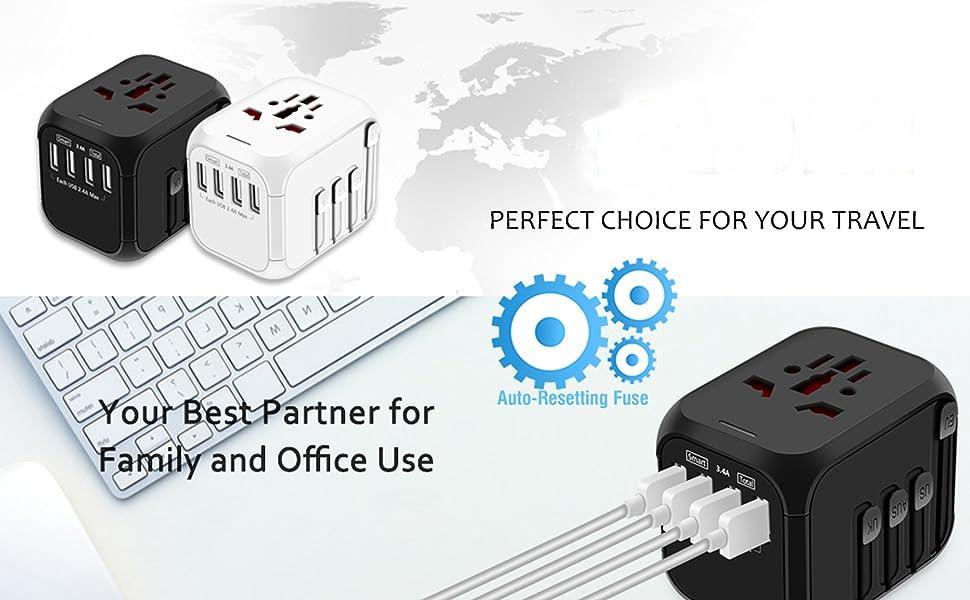 New Universal Travel Adapter, International All in One Worldwide