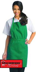 Adjustable bib apron long chest thighs with pockets for men and women big people easy to clean