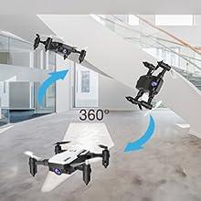 Flashandfocus.com 93288b97-ac61-46a4-8e7b-e4d11301a067.__CR0,0,300,300_PT0_SX220_V1___ SIMREX X300C Mini Drone RC Quadcopter Foldable Altitude Hold Headless RTF 360 Degree FPV Video WiFi 720P HD Camera 6…