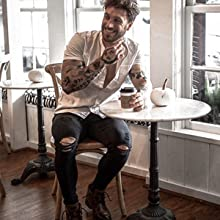 ripped jeans mens grey