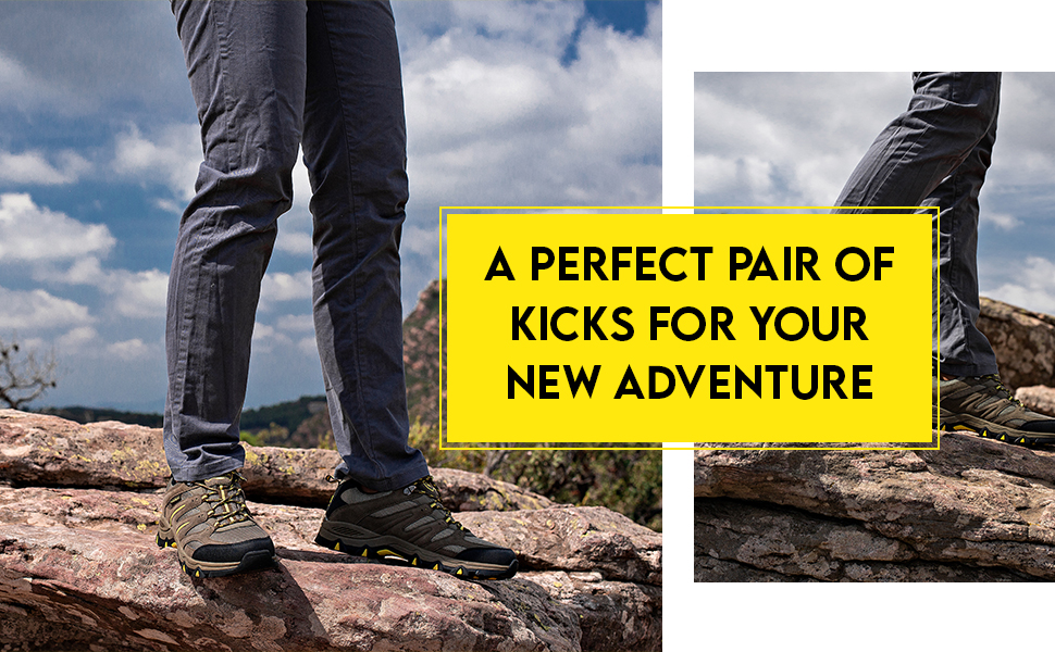 Get ready for a new adventure with our walking and hiking shoes