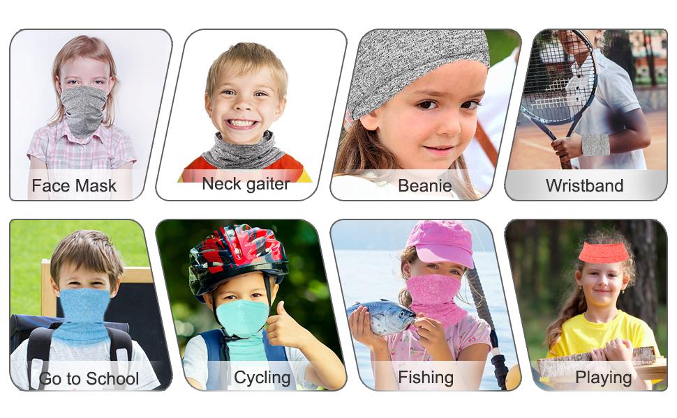 Bandana Face Mask for Kids Scarf Bandana Face Mask Children Anti-fog UV Sun Dust Wind Neck Gaiter Stretchy Breathable Mask Boys/&Girls Indoor /& Outdoor Mask
