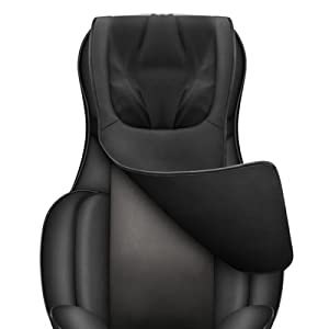 removable leather flap for neck and back massage