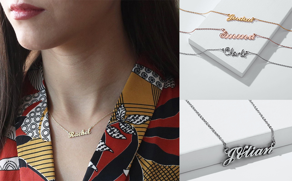 womens name necklace